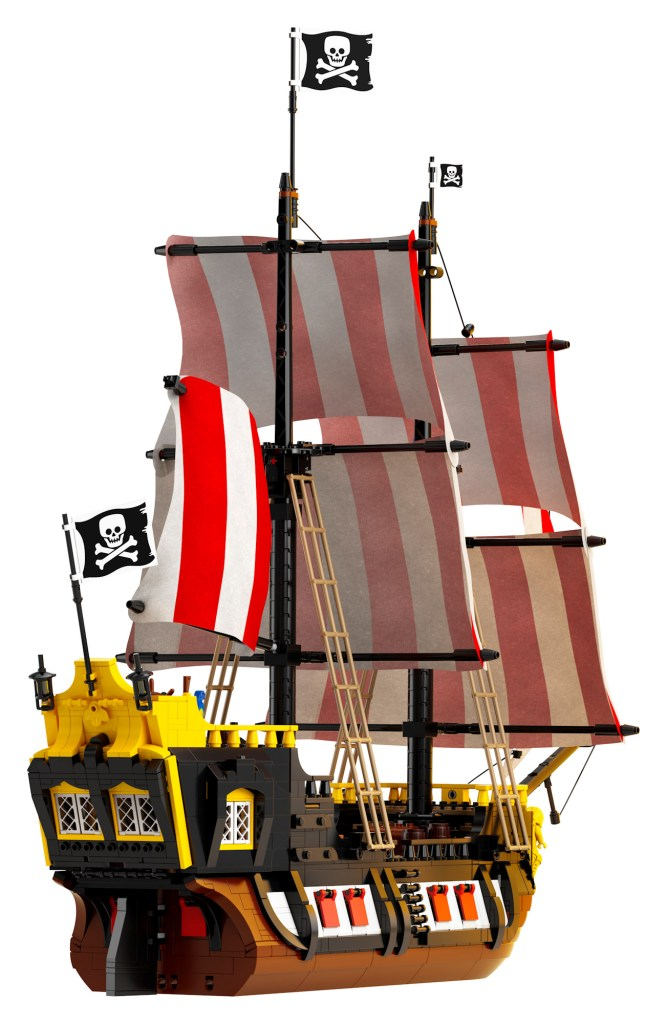 The shipwreck converts into a ship in the LEGO Pirates set coming soon.