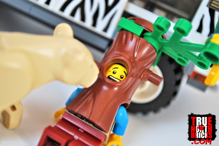 Minifigure in tree costume.