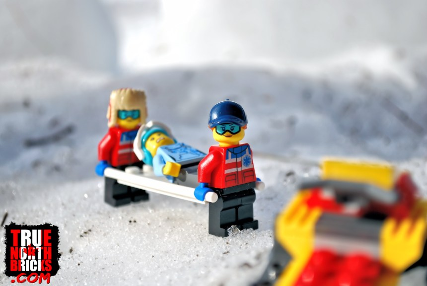 Three paramedics comes with the ski resort set.