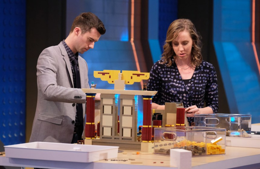 Tyler and Amy building their evil Egyptian lair.