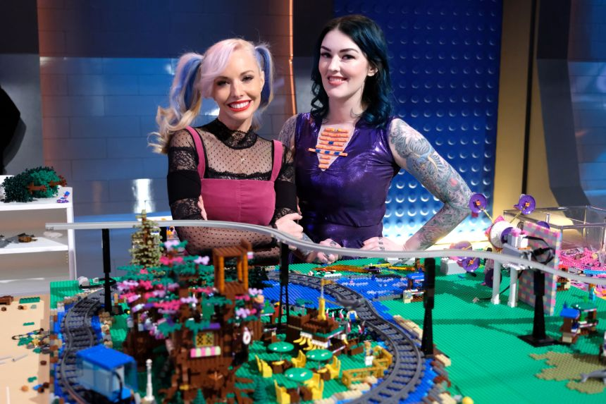 Krystle and Amie build their Dream Park.