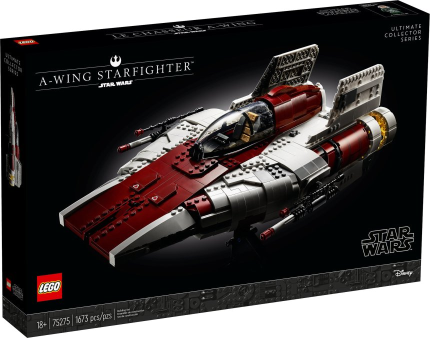 UCS A-Wing box art.