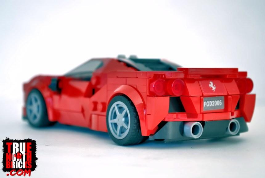 Ferrari F8 Tributo rear view.