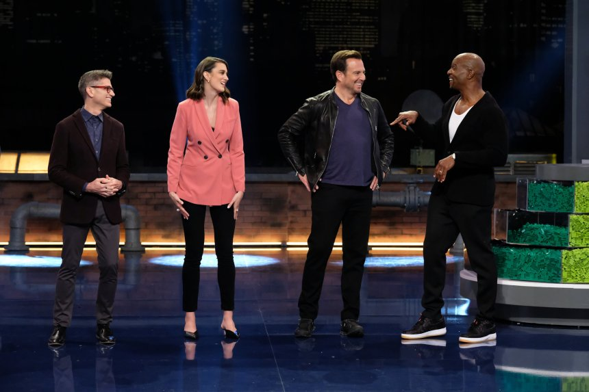 Jamie, Amy, Will, and Terry Crews.