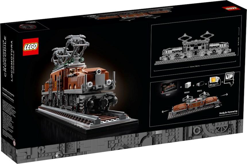 Crocodile Locomotive (10277) rear box art.