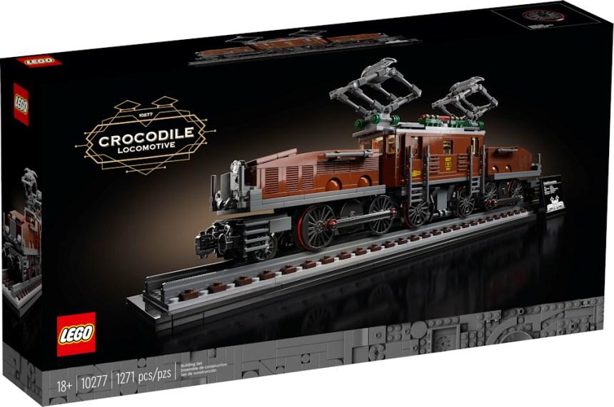 Crocodile Locomotive (10277) front box art.
