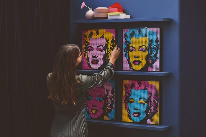 Marilyn Monroe LEGO® art kit