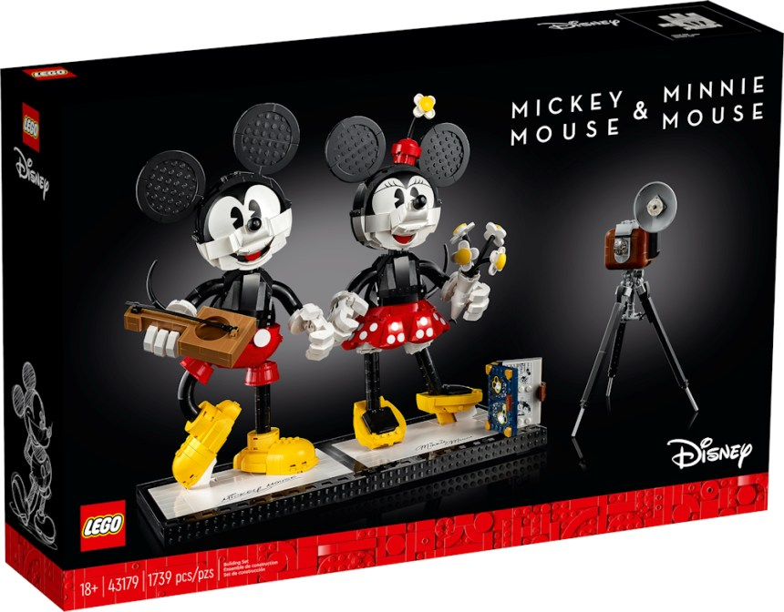 Mickey and Minnie Buildable Characters front box art.