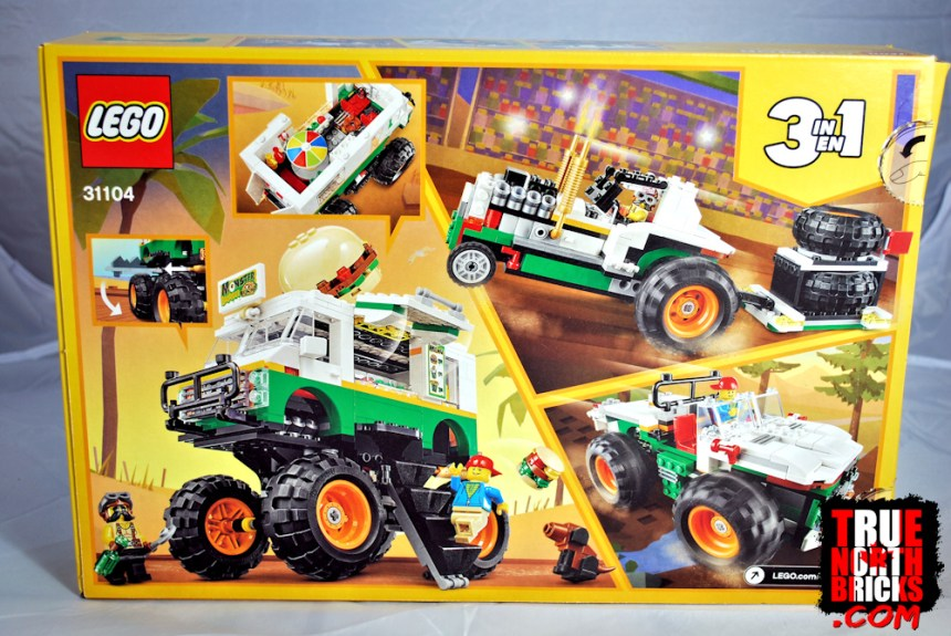 Monster Burger Truck (31104) rear box art.