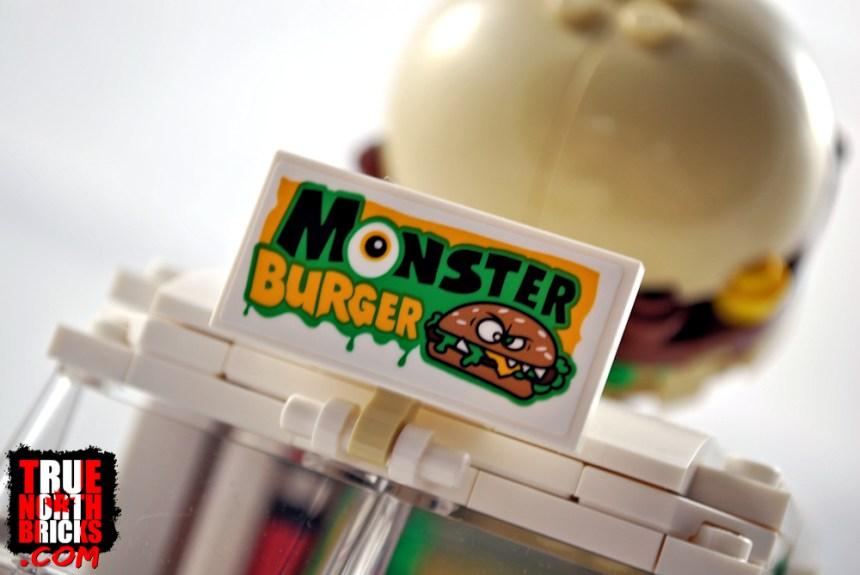 Monster Burger Truck (31104) sign.