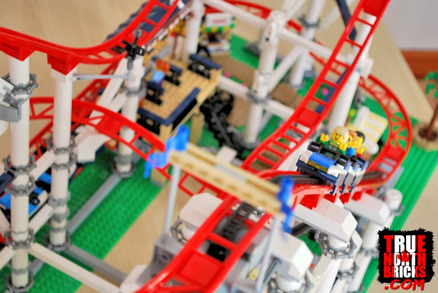 Minifigures on the first incline.