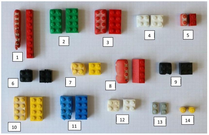 Beached LEGO® versus regular LEGO®.