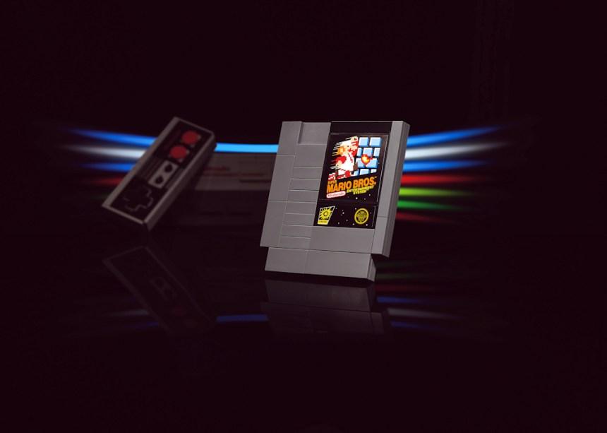 LEGO Nintendo Entertainment System game cartridge
