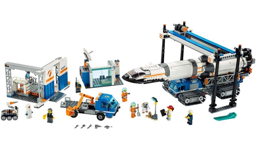 Top 10 biggest City sets: Rocket Assembly and Transport