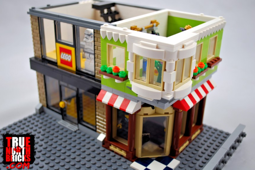 LEGO® and men's wear stores second story.
