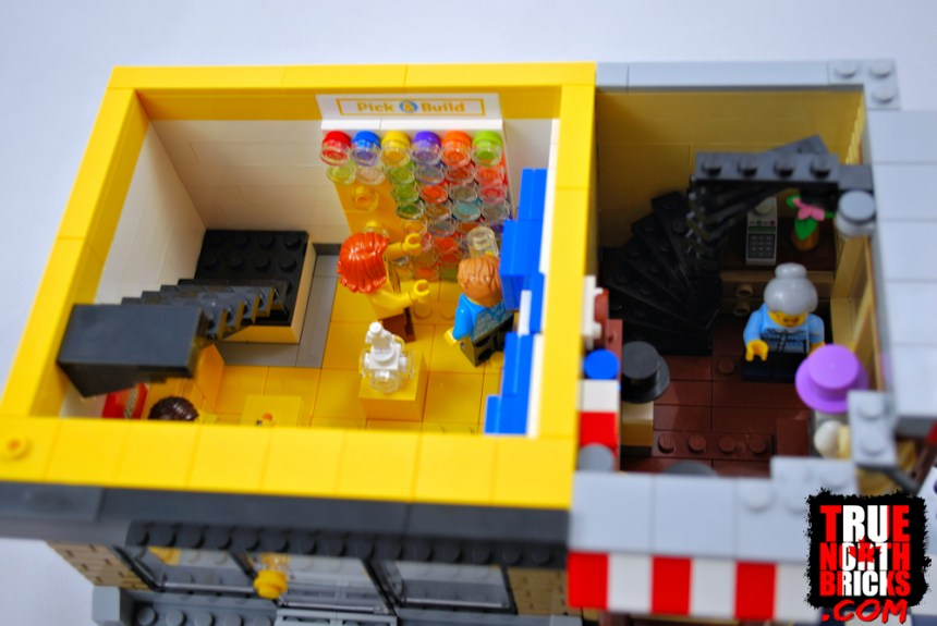 Overhead views of the LEGO® and Men's Wear stores.