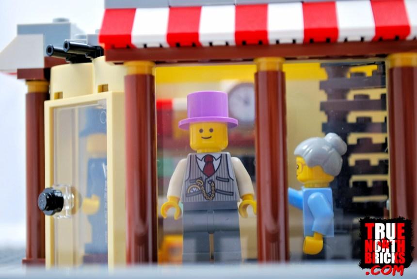 Men's wear store window display.