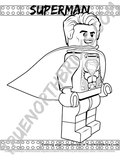 Superman Coloring Page Sample