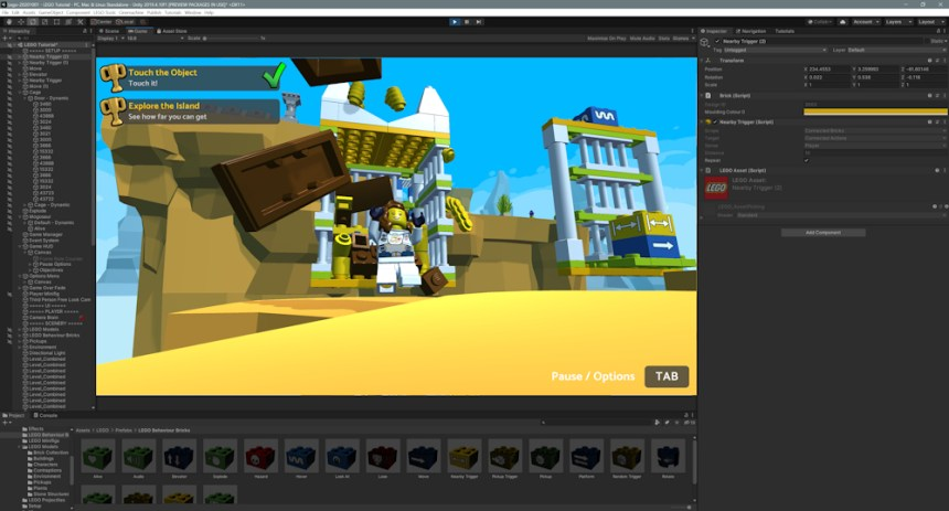 Make a LEGO® video game with Unity!
