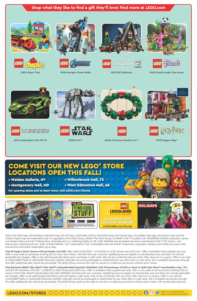Lego November 2022 Calendar.November 2020 Calendar From The Lego Store True North Bricks