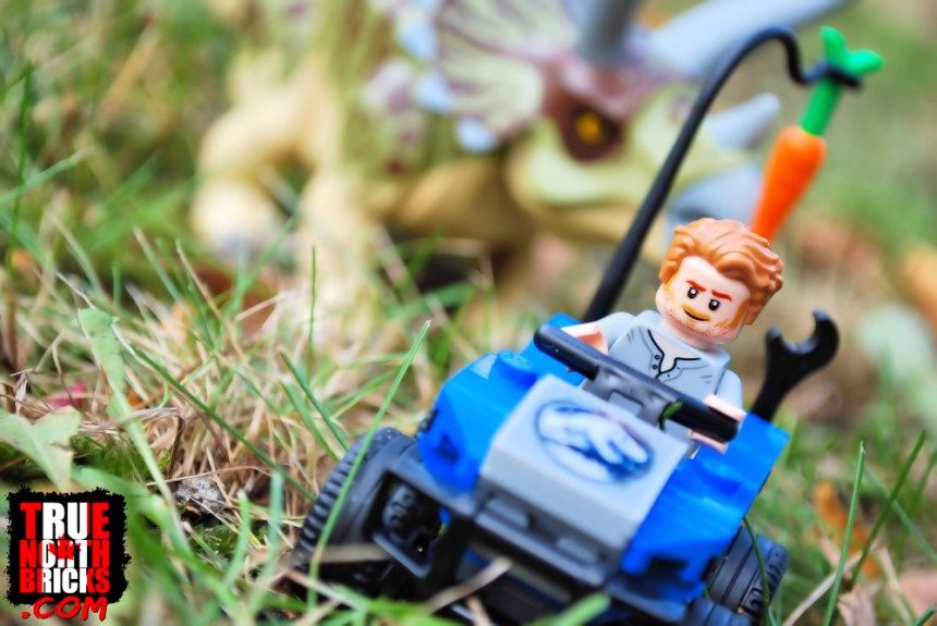 Triceratops Rampage (75937) includes a lack luster four-wheeler.