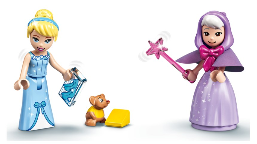 More January 2021 sets from LEGO: Cinderella's Royal Carriage Mini-dolls.