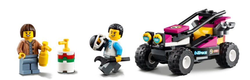 January 2021 City sets: Race Buggy Transport Minifigures