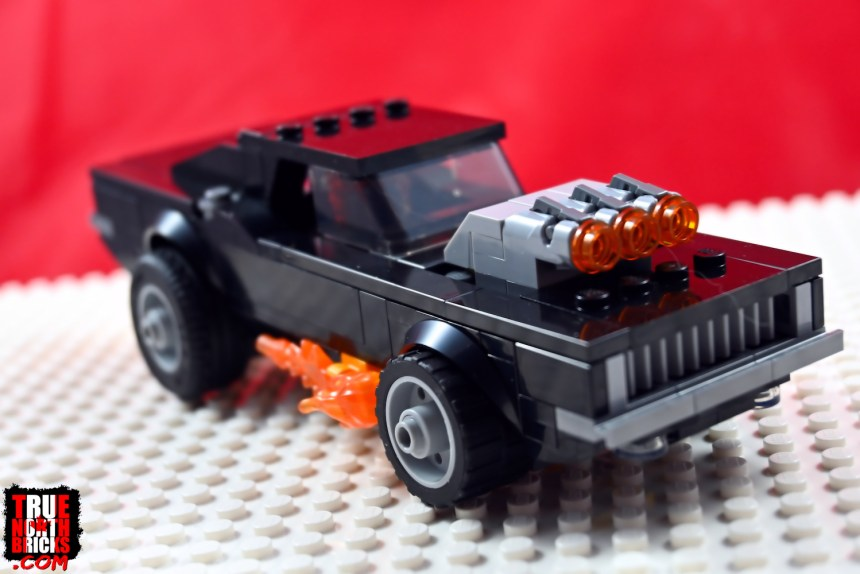 Front view of Ghost Rider's car.
