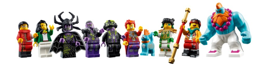 Monkie Kid's Team Dronecopter minifigs.