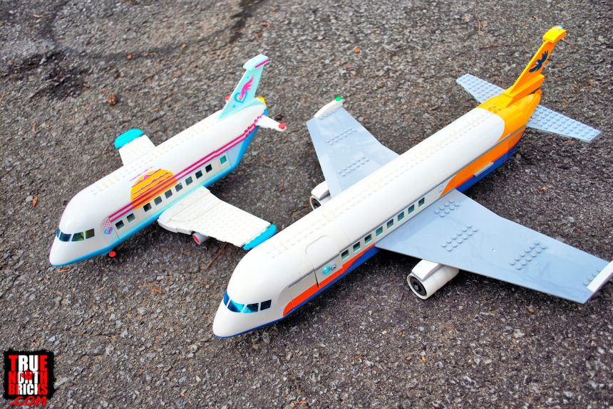 A plane comparison of the 2020 LEGO airplanes.