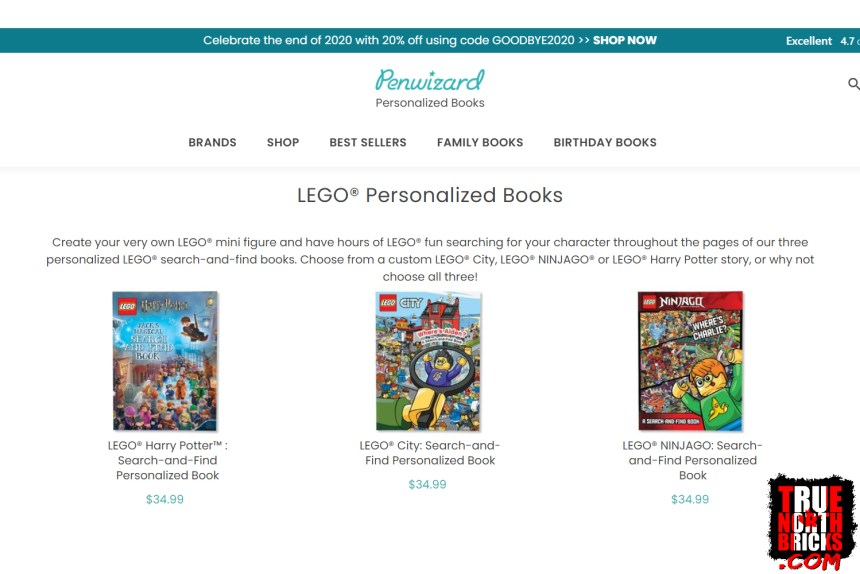 Penwizard LEGO® Search and Find theme selection.