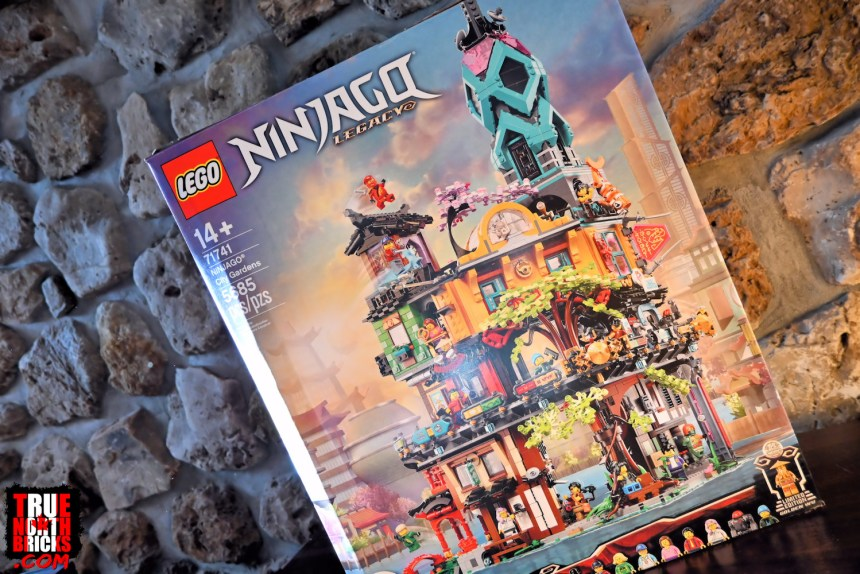 Ninjago City Gardens (71741) box art.