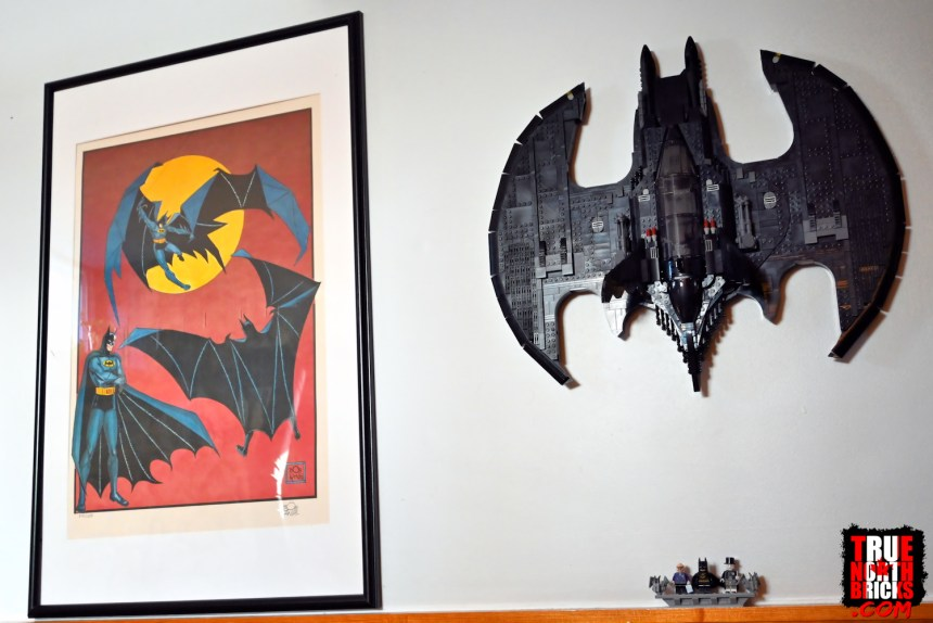 1989 Batwing (76161) mounted on my wall.