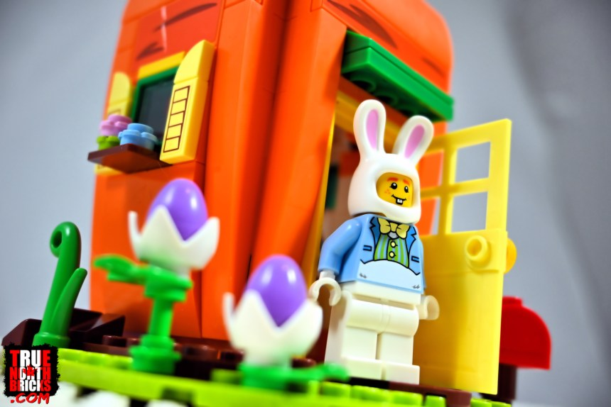 What Easter Bunny's Carrot House would look like with a Minifigure.