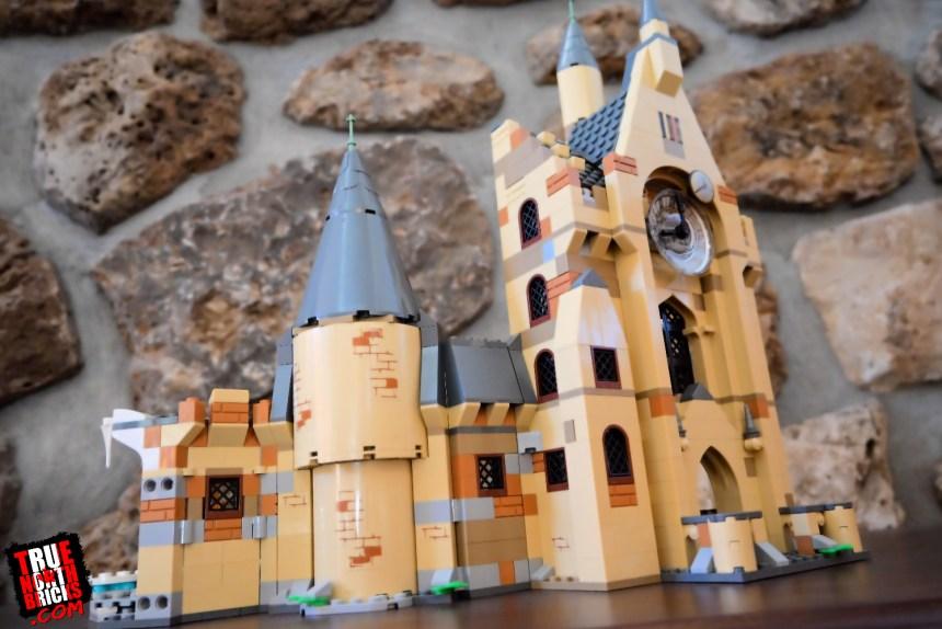 Exterior view of the Hogwarts Clock Tower (75948) set.