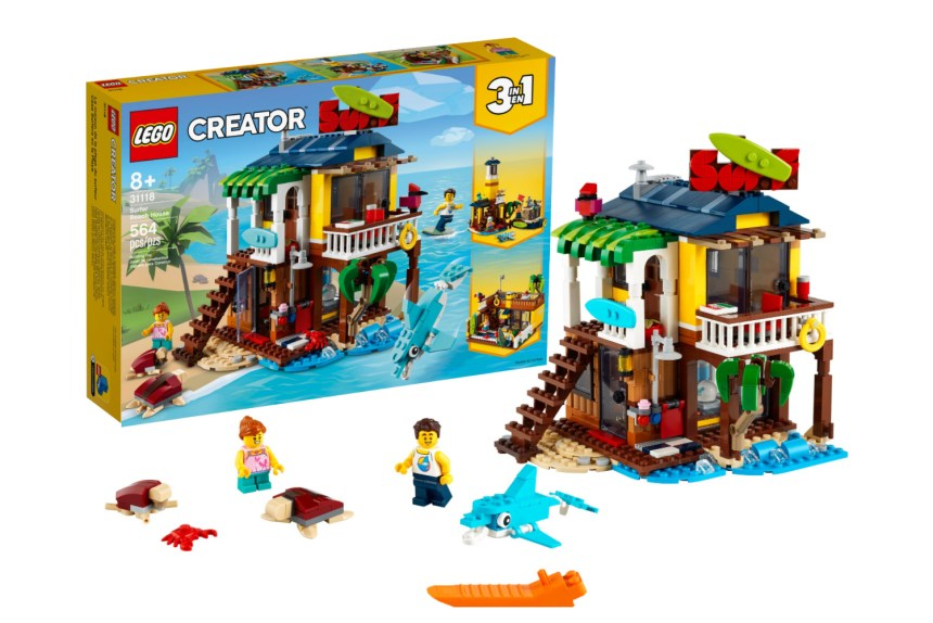 Win the LEGO Creator 3-in-1 Surfer Beach House in this Minifigure Dream Vacation Giveaway.