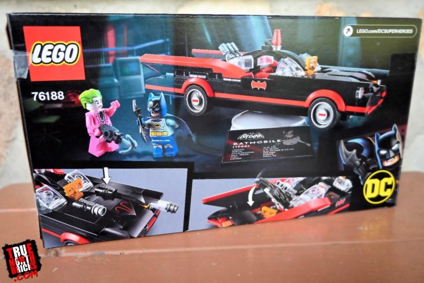 Classic TV Series Batmobile rear box art.