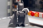 LEGO Batman, armoured rear view.