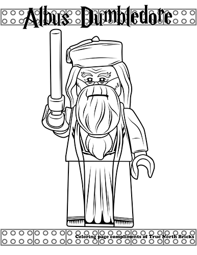 Coloring Page Albus Dumbledore True North Bricks