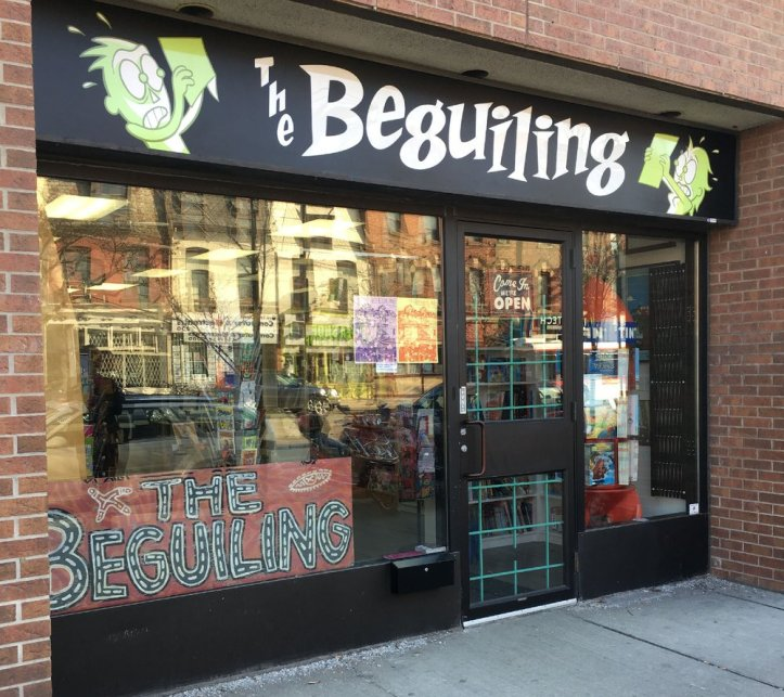 Beguiling comic book store front