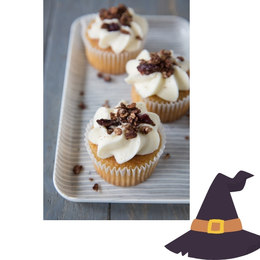 Cupcakes Topped with Choco Granola Graphic