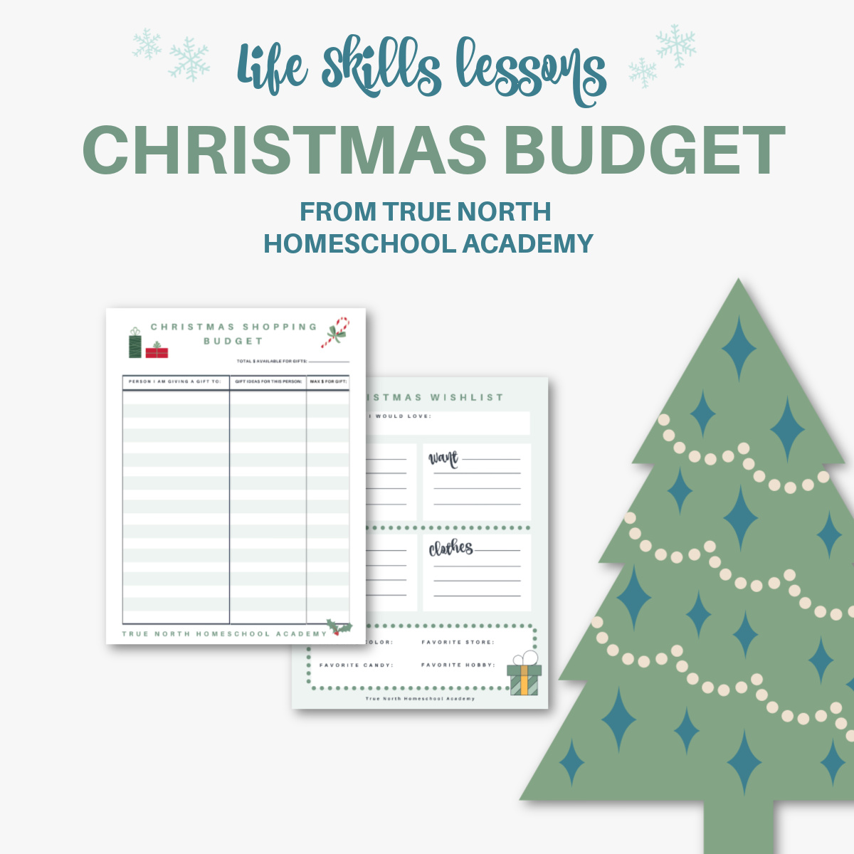 Christmas Shopping Budget Worksheet True North