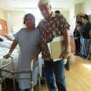 Dr. Manuel Avila with a patient