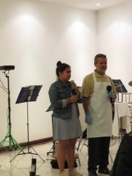 Previous patient who, as part of a catering service, stood up at the rotarian dinner, and gave a heartfelt thank you to the group for changing his life.