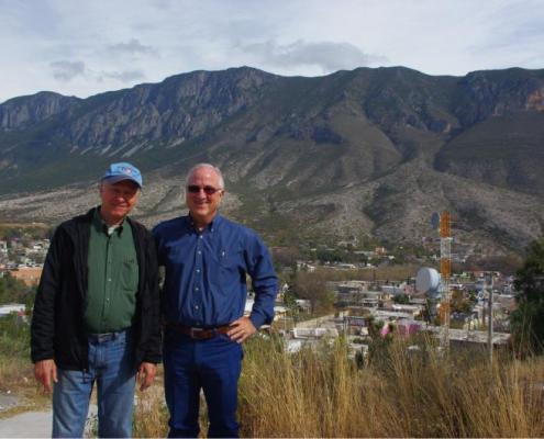 Jesse and Steve above Galeana, NL, MX