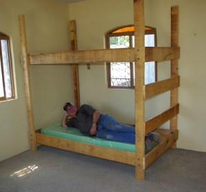 The assembled bunk bed is very strong and will hold up to years of use.