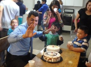 Pastor Jose defends his cake - he likes cake.