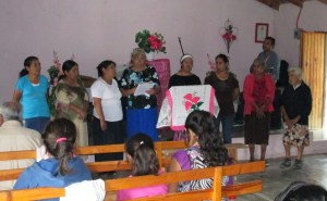 The ladies of San Jose Del Rio sang a hymn during worship.