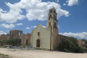 Old church building is in poor shape.
