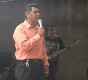 Pastor Jose drove over two hours from his village.